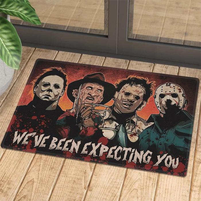 horror movie characters doormat
