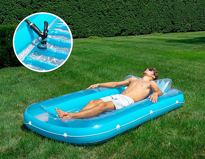 inflatable sunbathing tub yard
