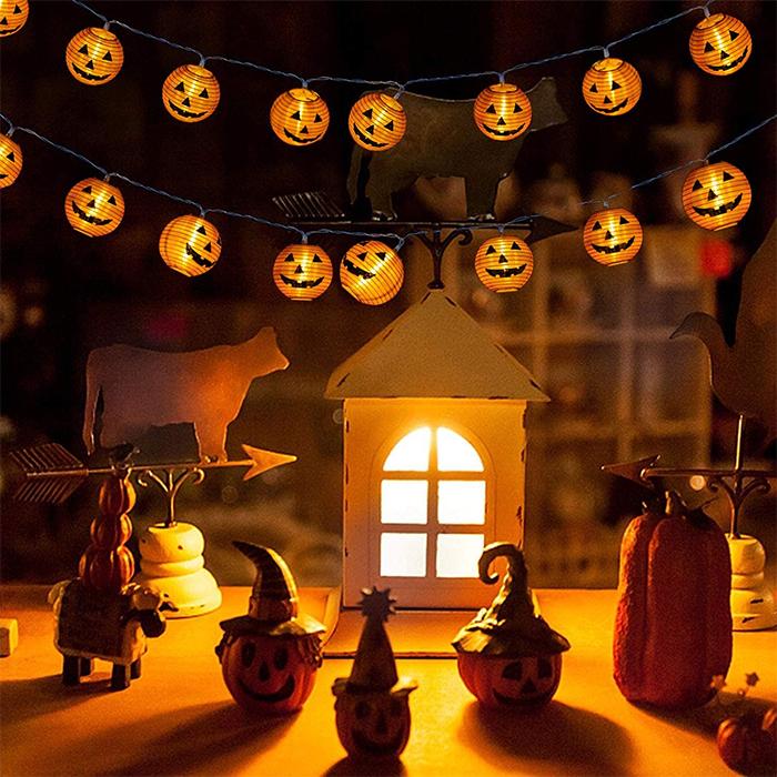 jack-o-lantern string lights led