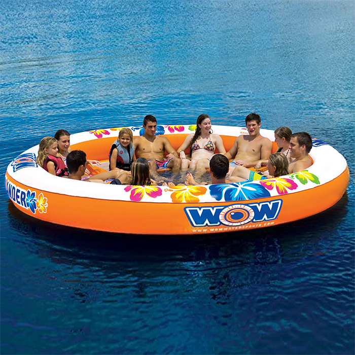 large inflatable island 12-person