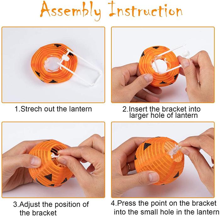 led pumpkin lanterns assembly instruction