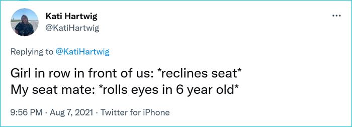 little girl one-liners in-flight decorum reclining seat