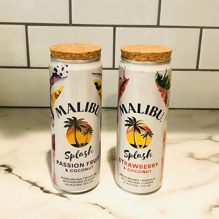 malibu splash candle recycled cans