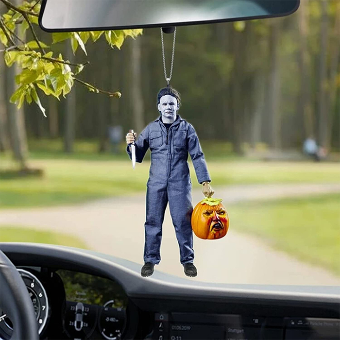 michael myers rear-view mirror ornament