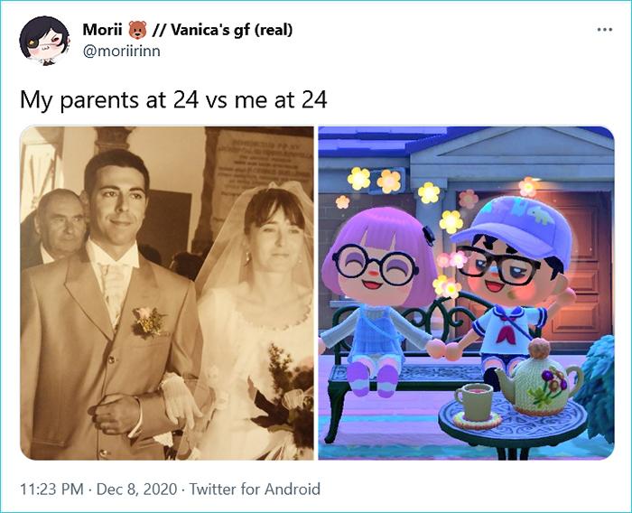 my parents vs me morii
