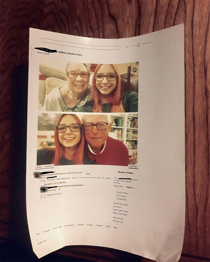 old people technology struggles printed facebook photos
