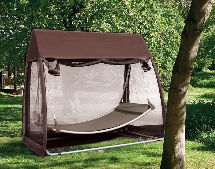 outdoor hanging canopy bed with mosquito net