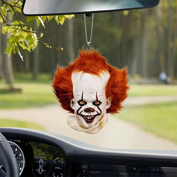 pennywise rear-view mirror ornament
