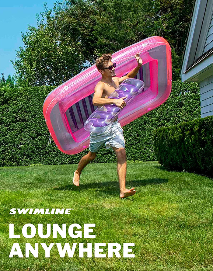 pool float with grab line lounge anywhere