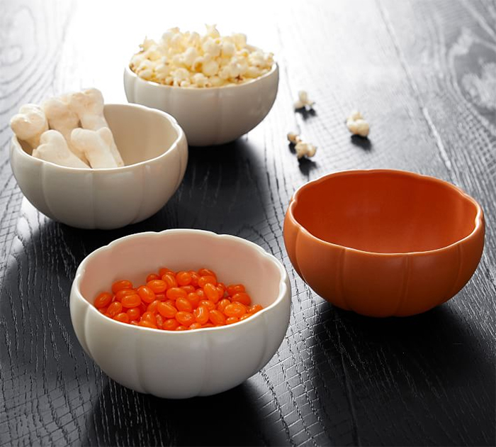 pumpkin shaped dinnerware bowls