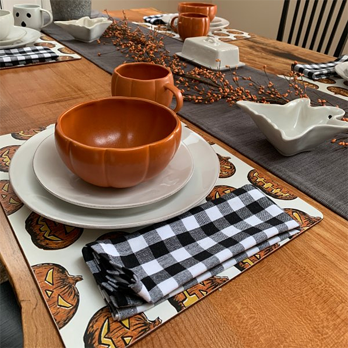 pumpkin shaped dinnerware stoneware