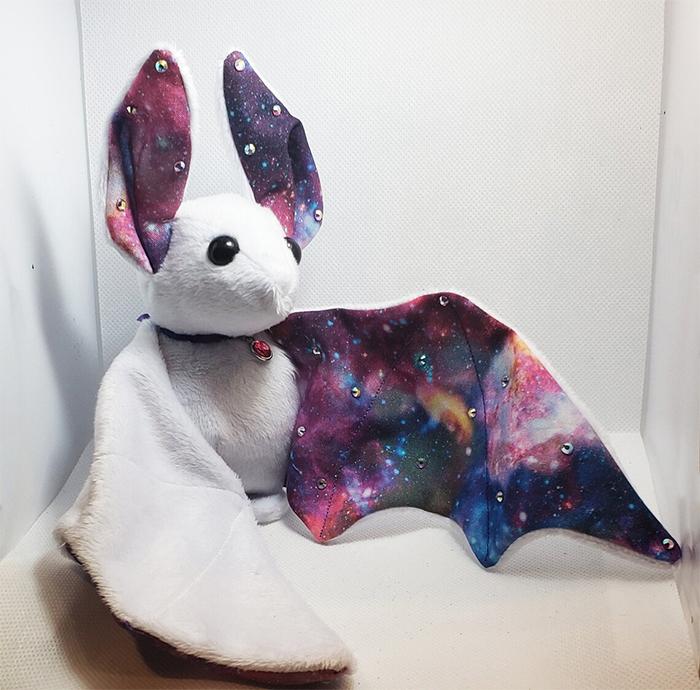 purple galaxy bat plushie
