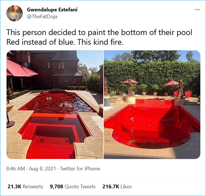 red pools