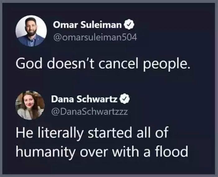 savage comebacks god cancels people