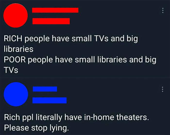 savage comebacks rich vs poor tv
