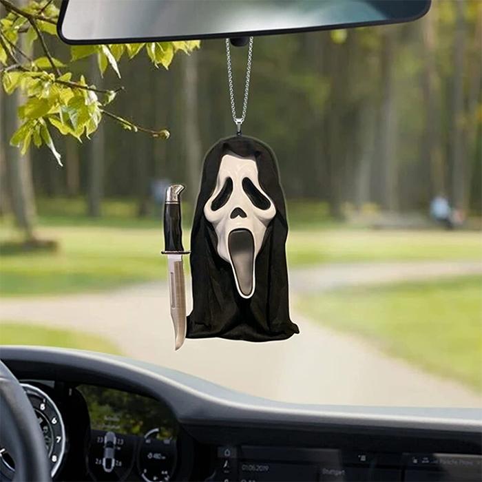 scream ghostface hanging ornament