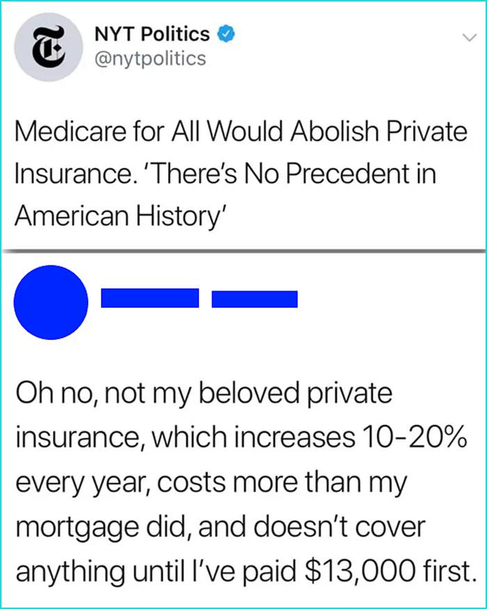 sick burns private insurance