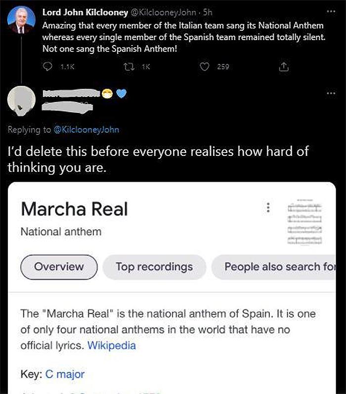 sick burns spain national anthem
