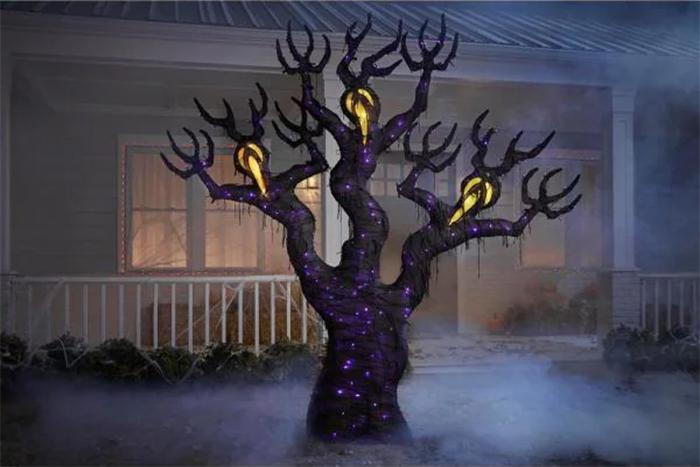 spooky light up ghost tree