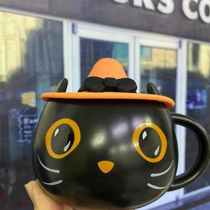 starbucks black cat mug halloween