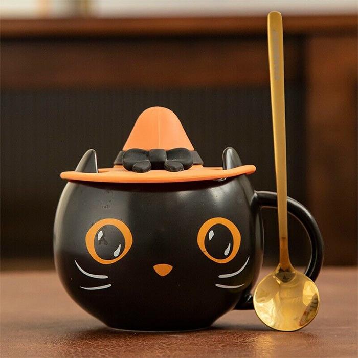 starbucks black cat mug
