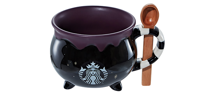 starbucks halloween cauldron mug