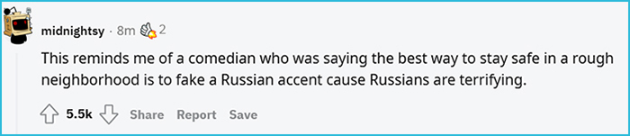 street smarts use russian accent