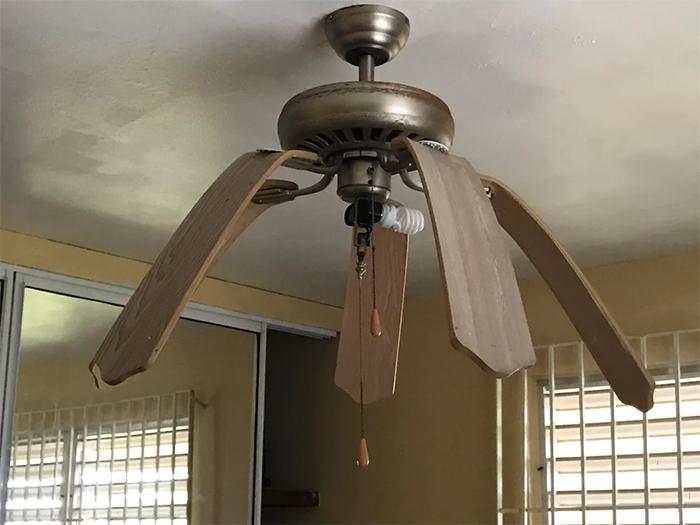 summer heatwaves melting ceiling fan