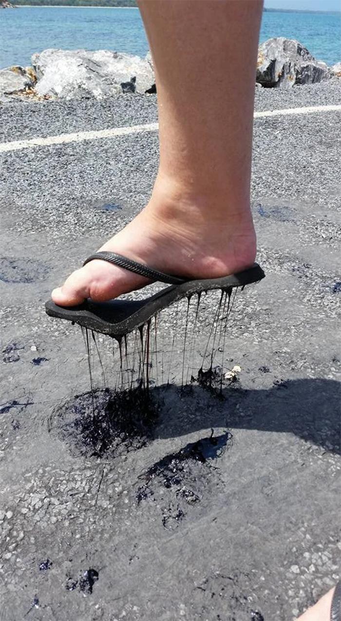 summer heatwaves melting slippers