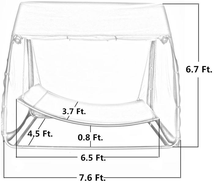 swing hammock dimensions