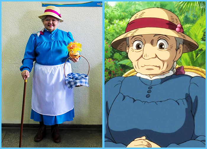 tia sol cosplay howl's moving castle sophie hatter