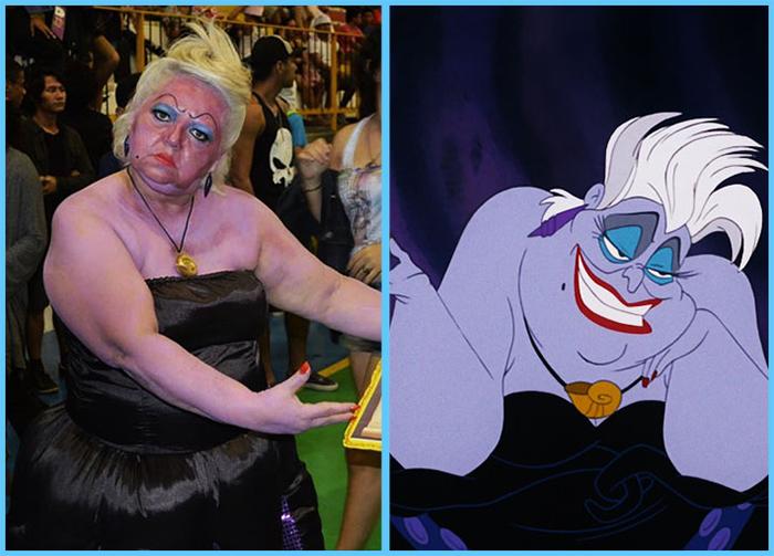 tia sol costume play the little mermaid ursula