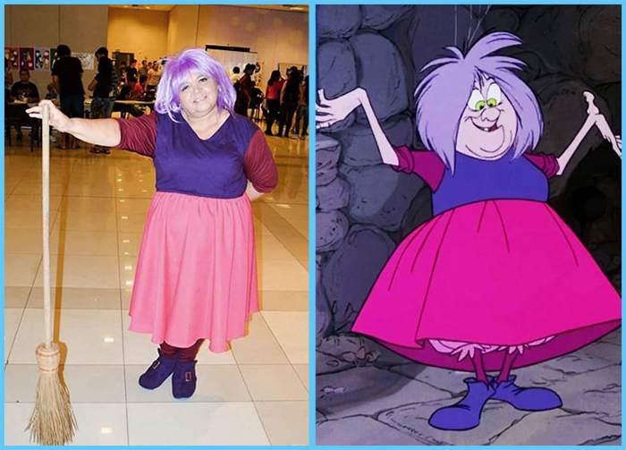 tia sol costume play the sword in the stone madame mim