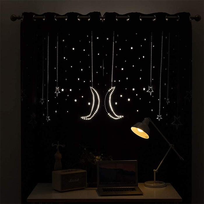 two-panel window drapes stellar cutout