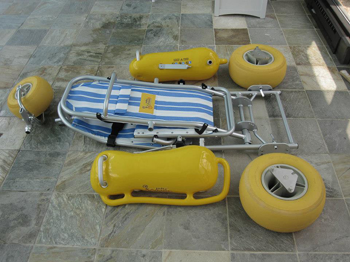 waterwheels floating beach wheelchair