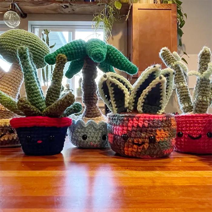 yarn potted plants patterns