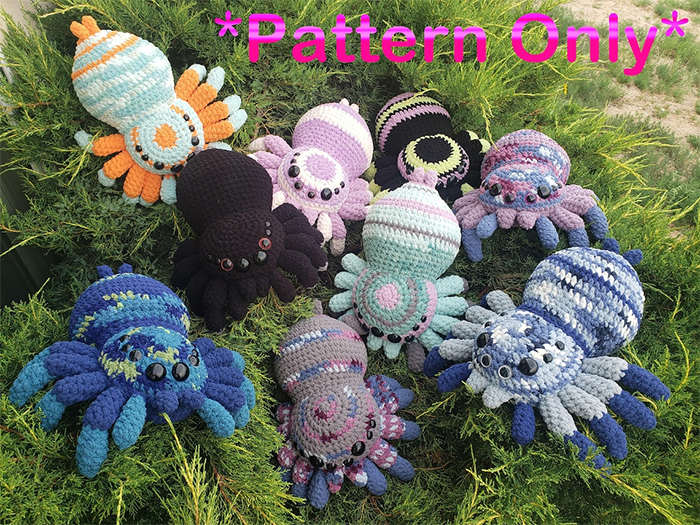 yarn spiders pattern only