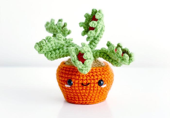 yarn stuffed plant