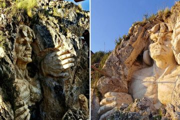 Ancient Andean Gods Carved Into a Mountain