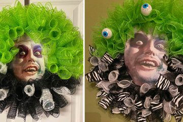Beetlejuice Wreath