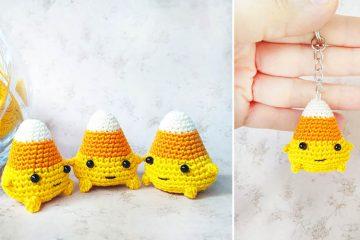 Crochet Mini Candy Corn
