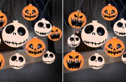 Jack Skellington and Pumpkin String Lights