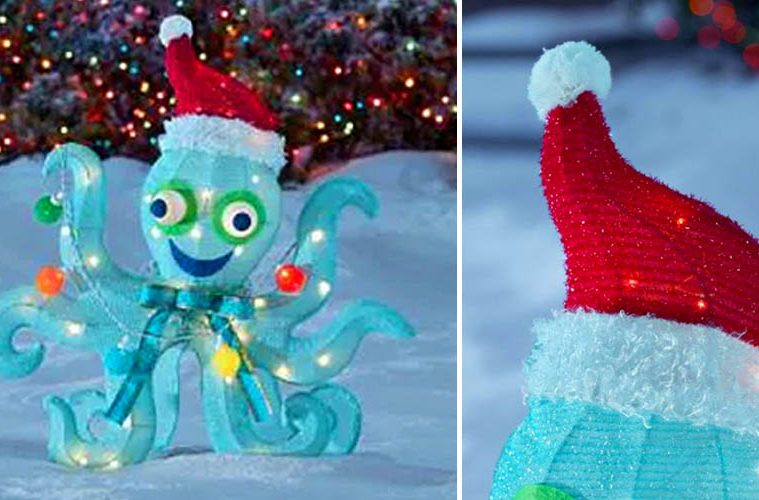 Light-Up Christmas Octopus