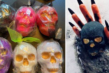 Sparkly Skull Bath Bomb