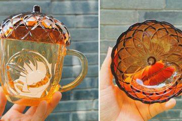 Starbucks Glass Acorn Mug