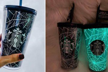 Starbucks Glow-In-The-Dark Spiderweb Cup