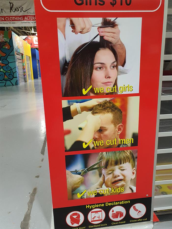 ad poster fail we cut kids