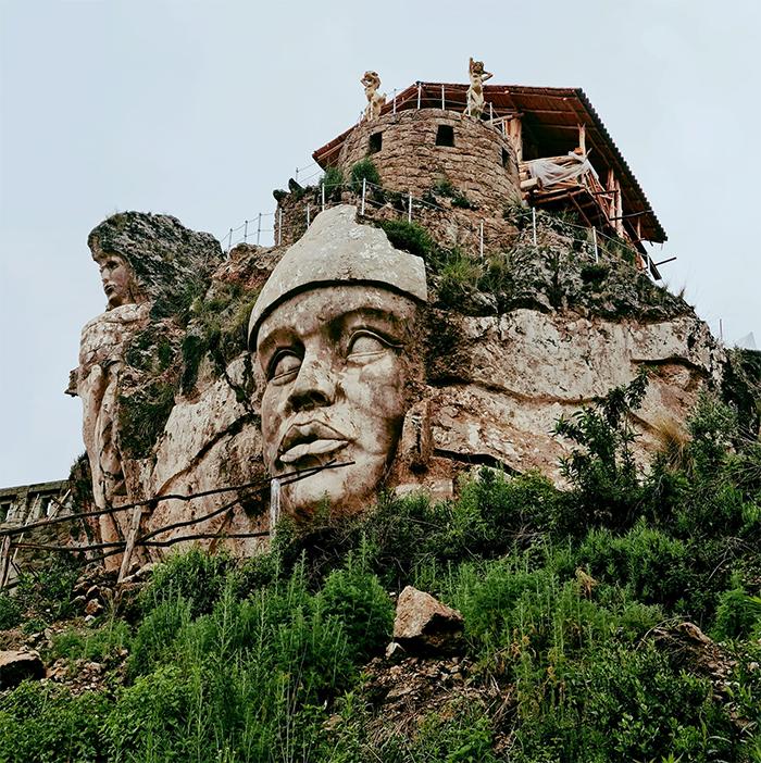 ancient andean gods monument peru