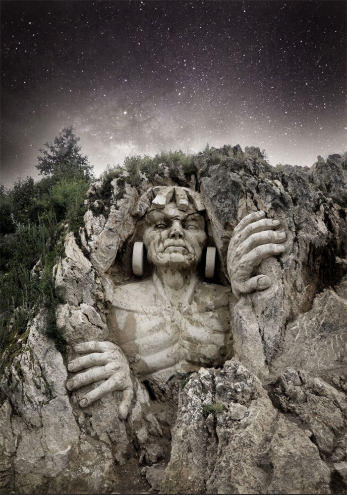ancient andean gods mountain monument