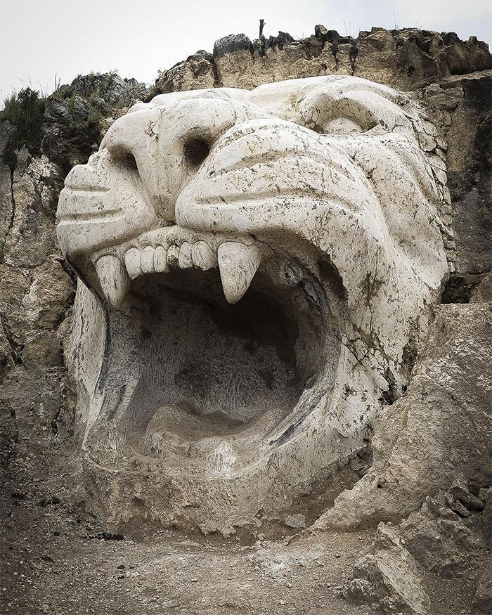 ancient andean gods puma sculptures peru